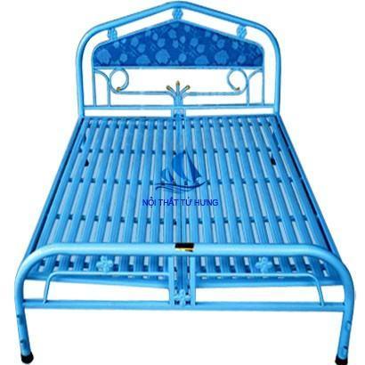 Giường đơn giá rẻ màu xanh
