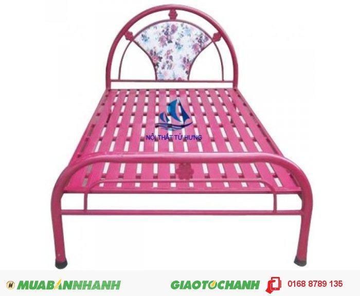 Giường đơn giá rẻ màu hồng