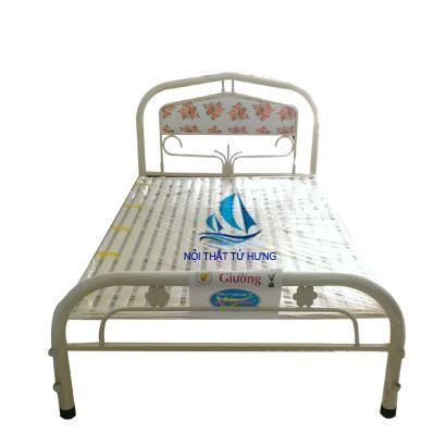 Giường đơn giá rẻ màu xám