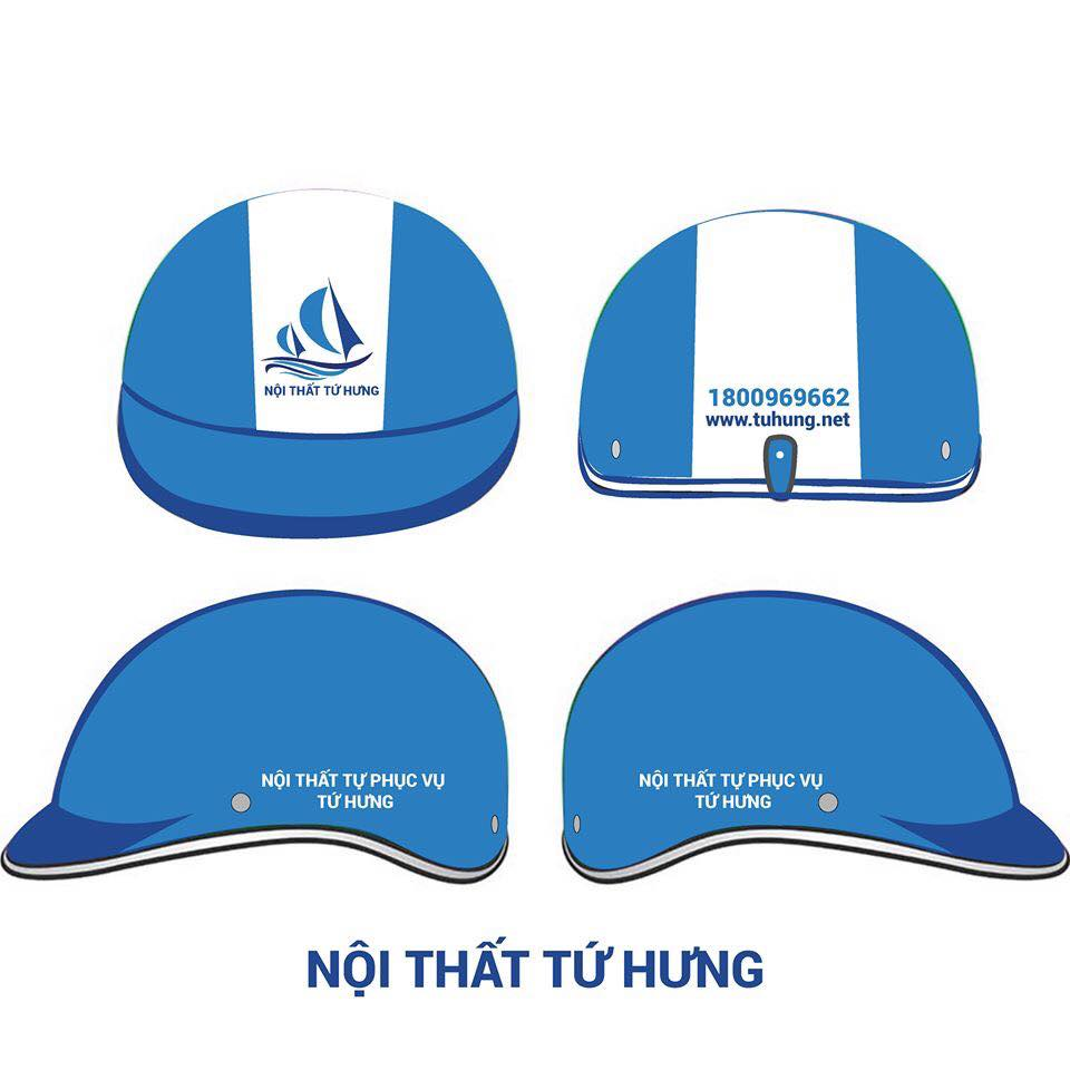 quảng cáo trên nón bảo hiểm