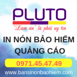 In mũ bảo hiểm quảng cáo - Pluto