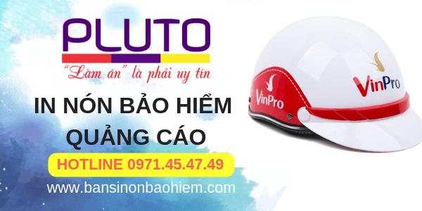 In nón bảo hiểm quảng cáo - Pluto